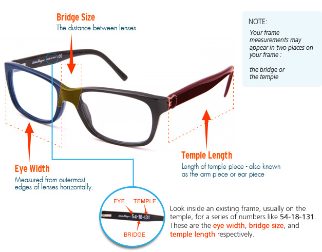Eyeglass Measurements On Frame : Makeup tips for wearing glasses (that doesnt involve a ...