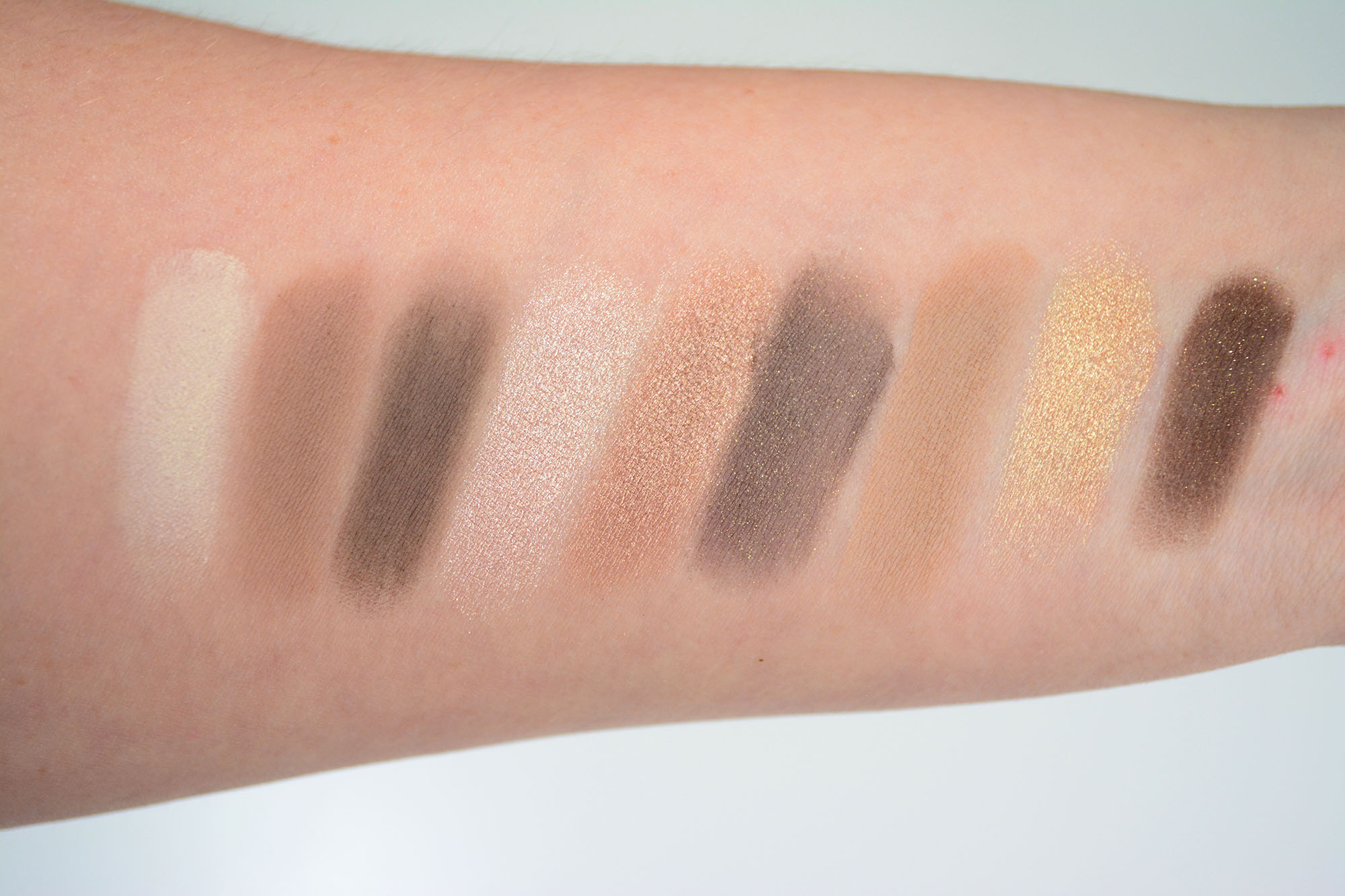 Too Faced Natural Eyes Palette Swatches