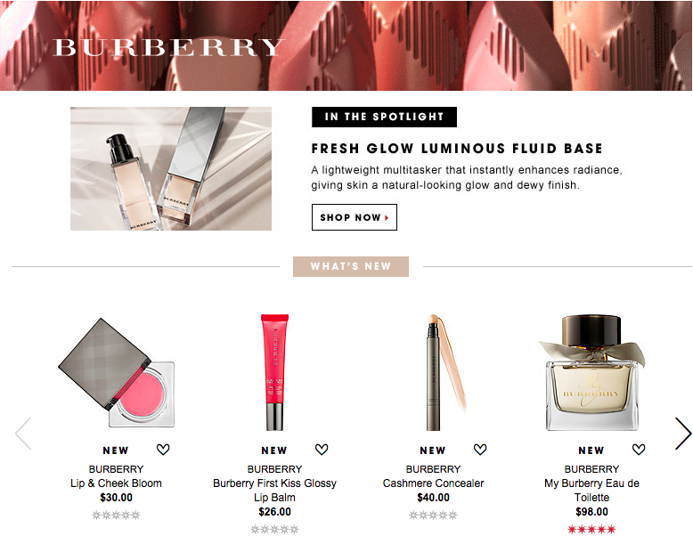 Sephora Brand Game - Burberry Beauty