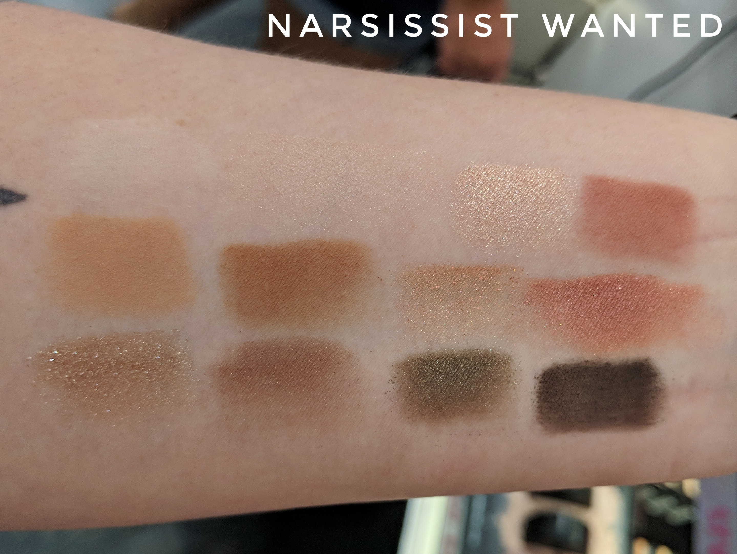 NARS NARSissist Wanted Eyeshadow Palette Swatches