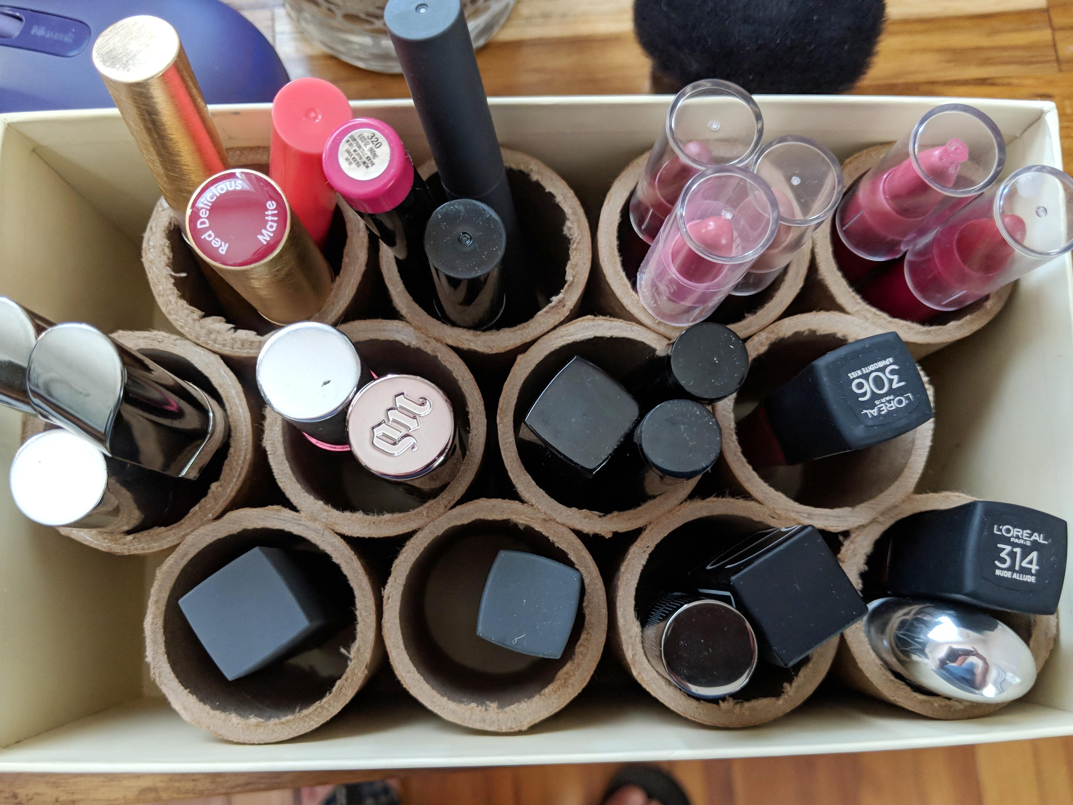 Upcycled Makeup Storage DIY